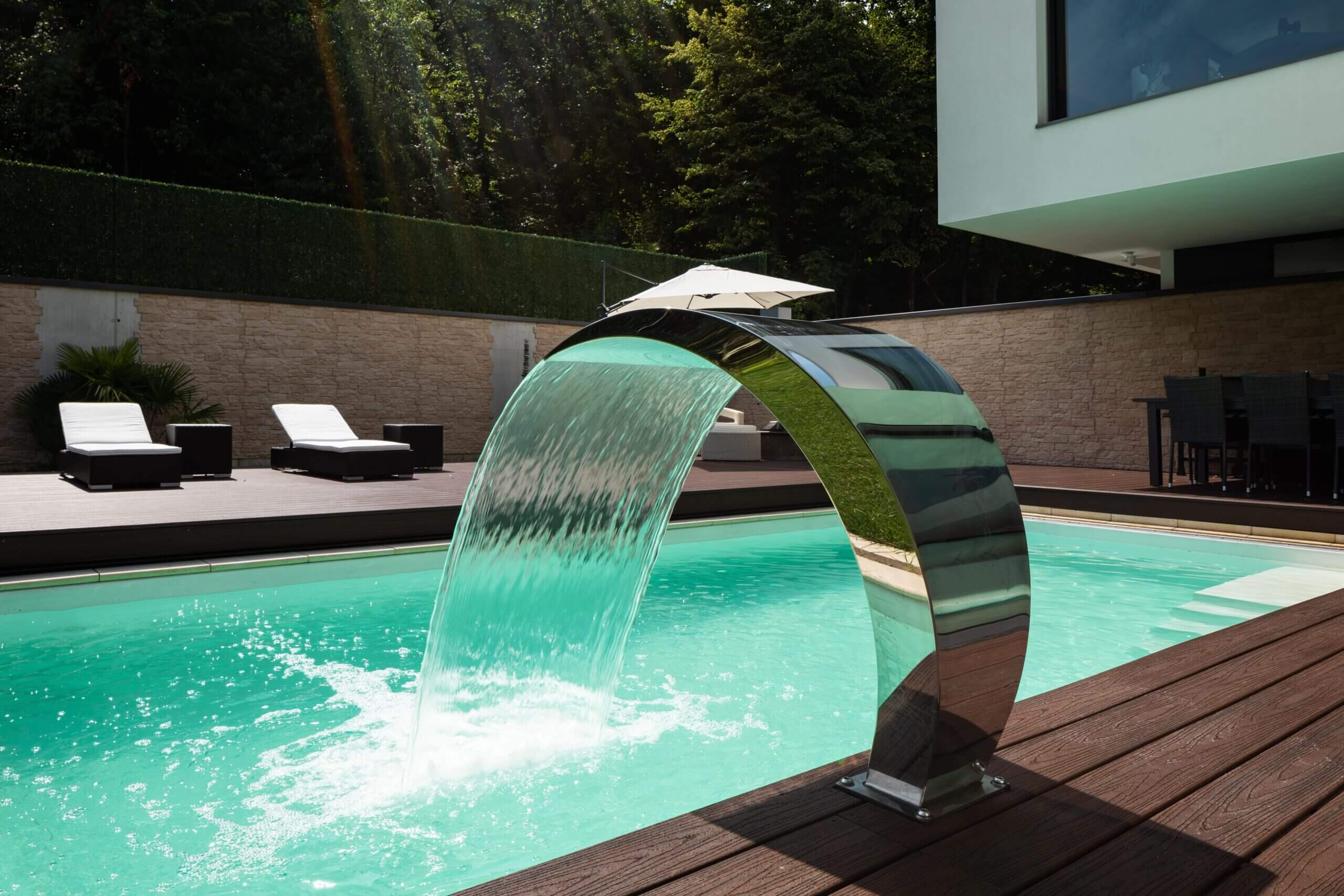 Gartengestaltung Wien moderne Pool scaled